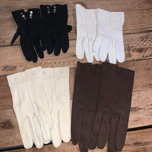 4 Pairs of Vintage Ladies Gloves